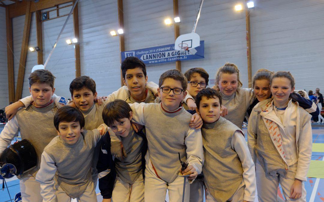 Domination du club aux championnats de Bretagne Fleuret
